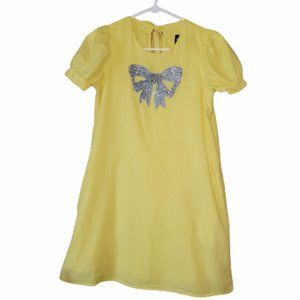 VAVA BY JOY HAN YELLOW BEADED BOW DRESS, SMALL